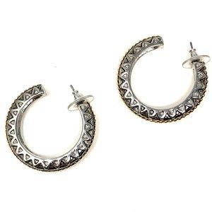 Brighton Silver/Gold Hoop Earrings